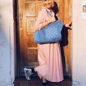 sac cabas bandana bleu shop in live