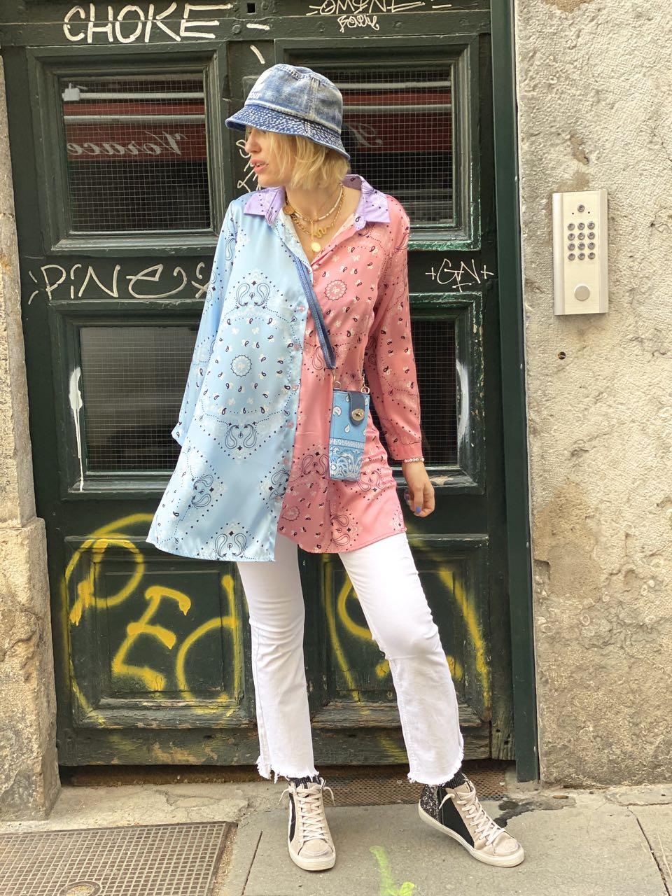 chemise bandana rose 2