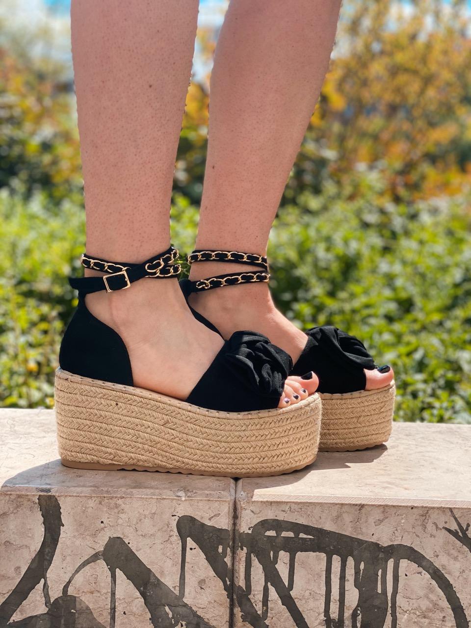 chaussure compensées noir