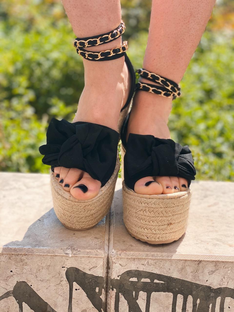 chaussures compensées noir