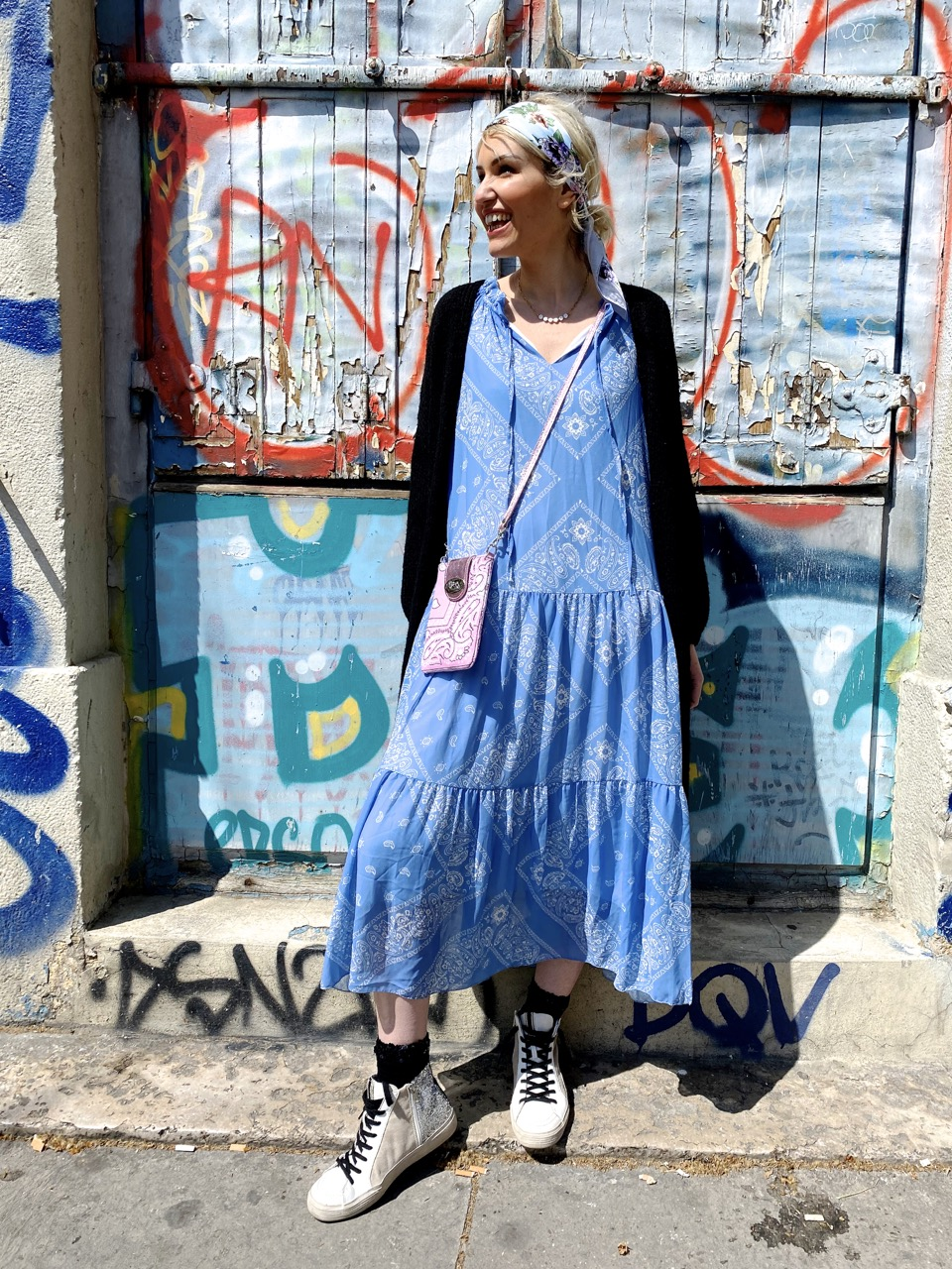 robe bandana bleu 2
