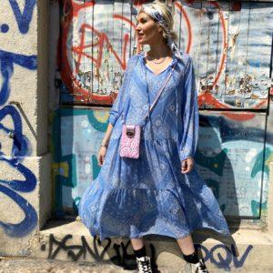 robe boheme bandana bleu
