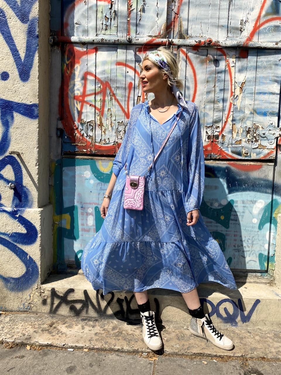 robe bandana bleu 3
