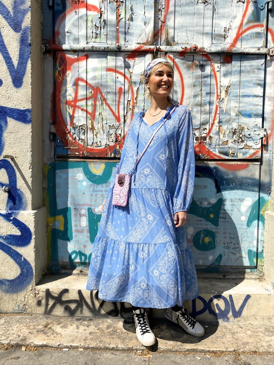 robe bandana bleu 4