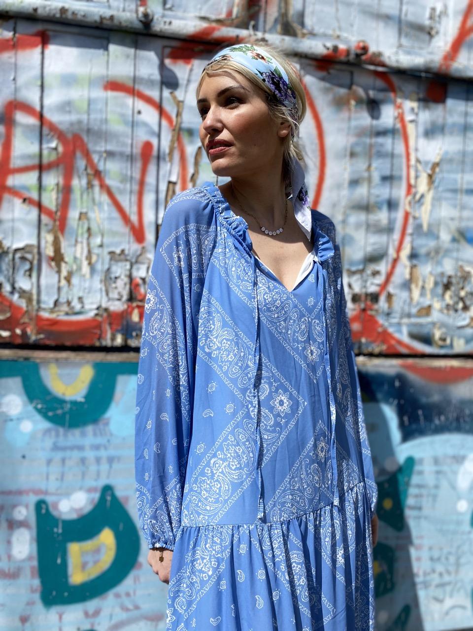 robe bandana bleu 5