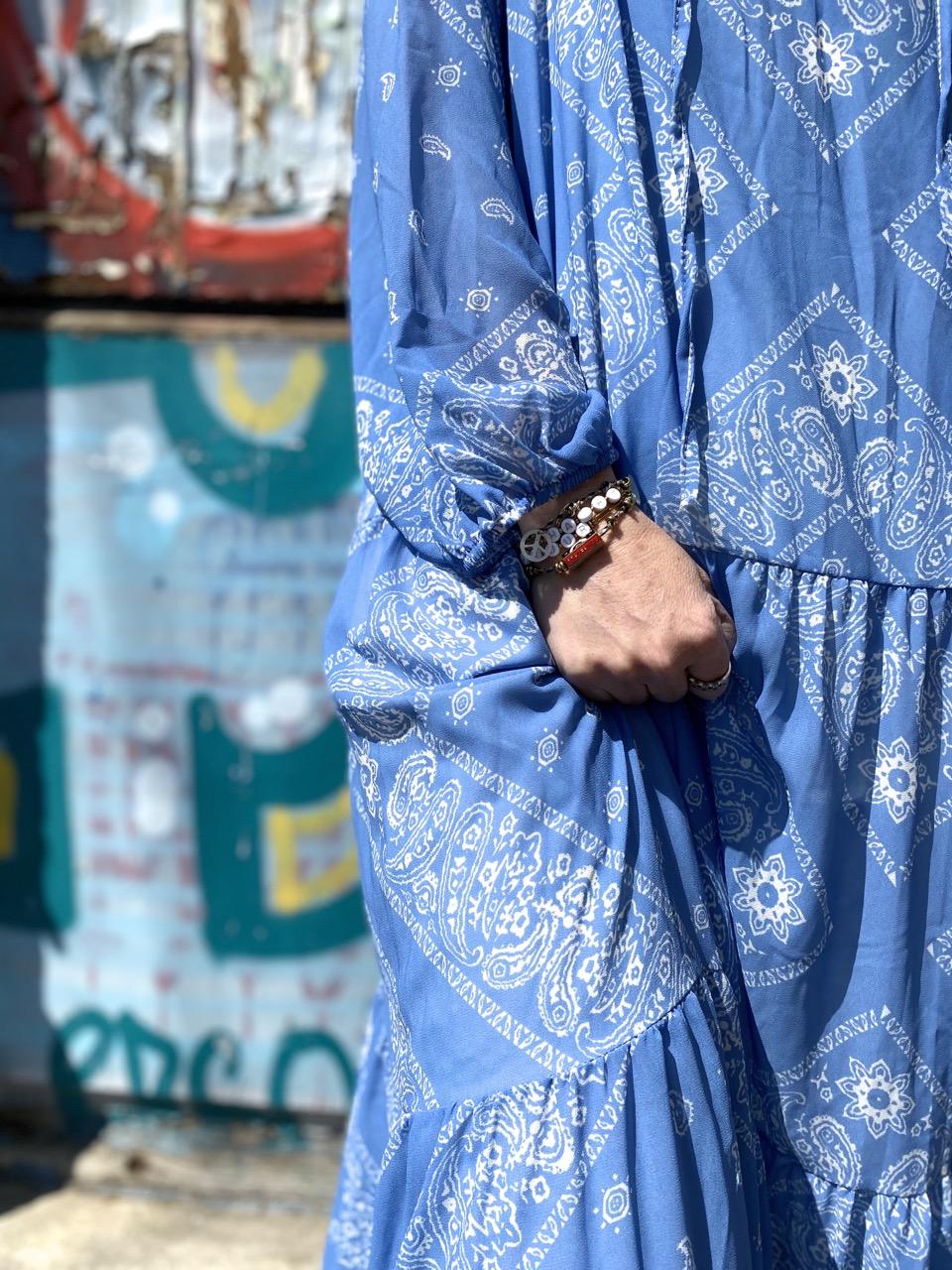 robe bandana bleu 6
