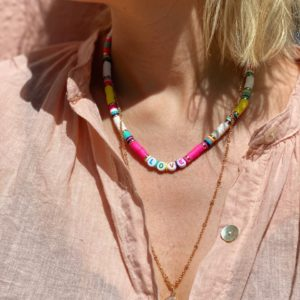 collier love rose double rang