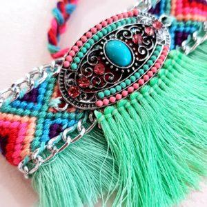 bracelet brésilien Ava vert shopinlive
