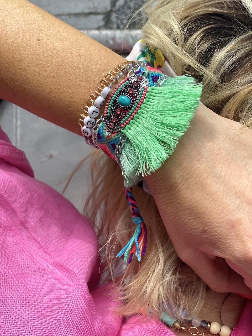 bracelet bresilien ava celadon