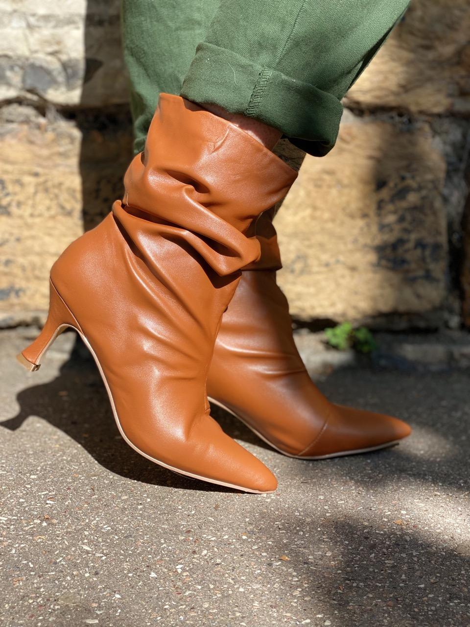 boots à talon camel