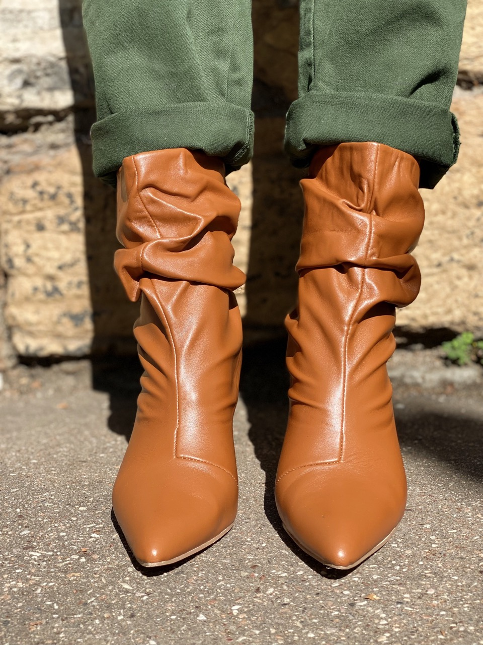 boots à talon camel 3