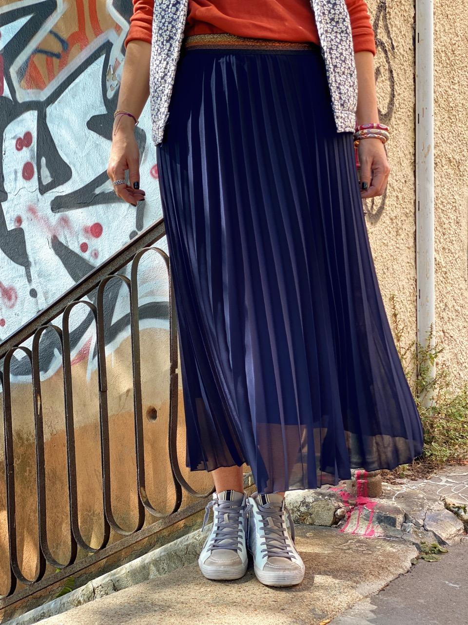 look jupe sylvia bleu